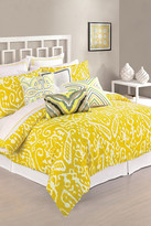 Trina Turk Ikat Twin Comforter & Sham 3-Piece Set - Yellow/White