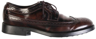 Tod's Brown Leather Lace Up Brogues Size 43.5