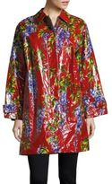 Dolce & Gabbana Collared Floral Raincoat