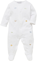 John Lewis Embroidered Animal Sleepsuit, White
