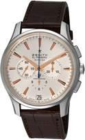Zenith Men's3.211.4/1.c498 El Primero 36' VPH Silver Sunray Chronograph Dial Watch