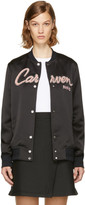 Carven Black Teddy Varsity Jacket