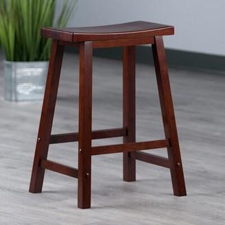 "Red Barrel Studio Nev Solid Wood Bar & Counter Stool Seat Height: Counter Stool (24"" Seat Height), Color: Walnut"