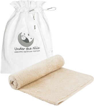Under the Nile Organic Cotton Faux Fur Swaddle Blanket