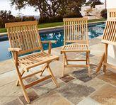 Pottery Barn Larkspur Teak Folding Chairs