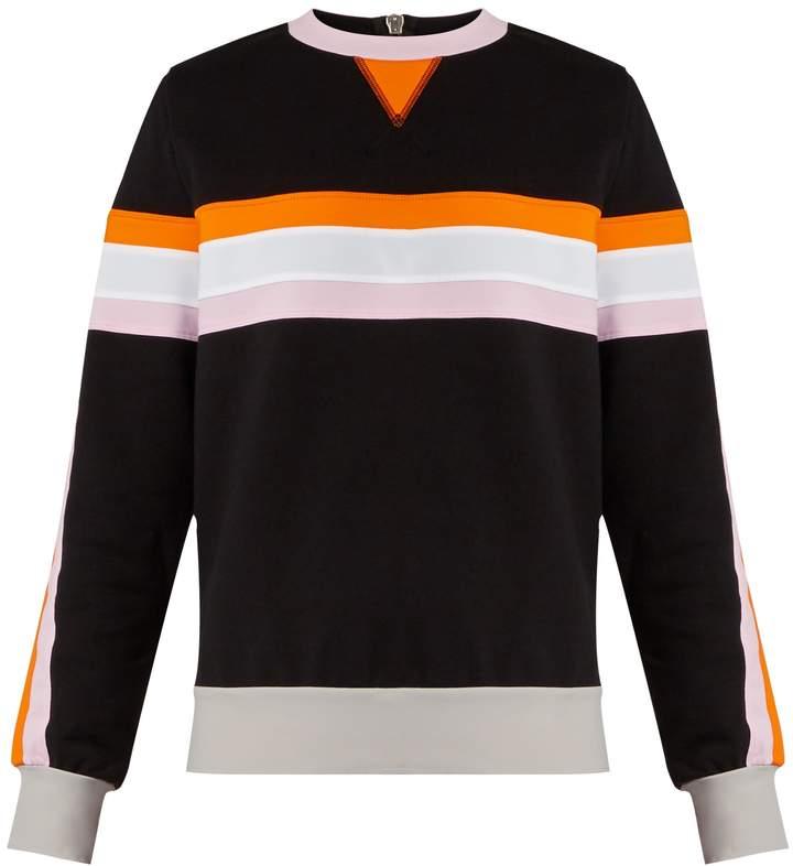 NO KA 'OI NO KA'OI Nau colour-block cotton-blend sweatshirt