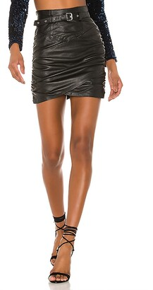 Camila Coelho Cami Leather Skirt