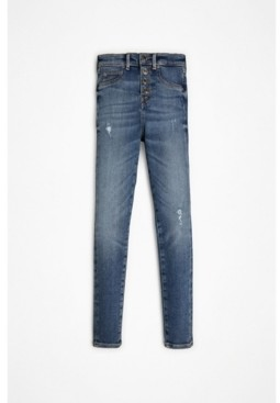 GUESS Big Girls Stretch Denim Distressed Jeans