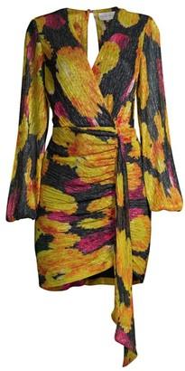 Rebecca Vallance Astoria Long-Sleeve Wrap Dress