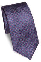 Canali Embroidered Geometric Silk Tie