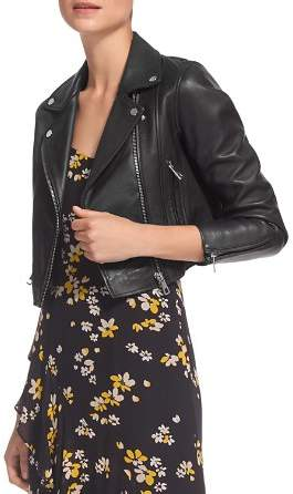 Whistles Rose Cropped Leather Jacket