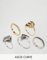 Asos Hamsa Stone Ring Pack of 5