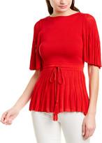Oscar de la Renta Carmine Silk-Blend Sweater