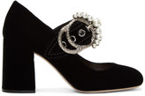 Miu Miu Black Velvet Mary Jane Heels