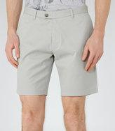 Reiss Reiss Wicker - Tailored Cotton Shorts In Green