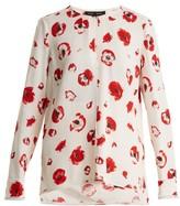 Proenza Schouler Poppy-print Crepe Blouse - Womens - Cream Print