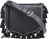 Rebecca Minkoff Women's Large Multi Tassel Saddle Bag Black