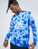 Poler Sweatshirt In Tie-Dye With Mountain Print