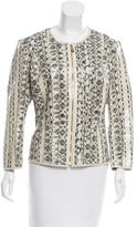 Versace Leather Embossed Python Jacket w/ Tags