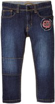 Little Marc Jacobs Trousers With Patches (Toddler/Kid) - Denim Blue - 3A