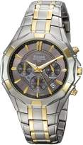 Pulsar Men's Quartz Stainless Steel Casual Watch, Color:Two Tone (Model: pt3854)