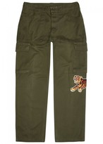 Maharishi Army Green Embroidered Cargo Trousers