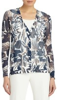 Lafayette 148 New York Women's Chantilly Print Cotton Blend Cardigan