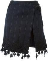 Sacai wrap lace trim skirt - women - Cotton/Polyester/Cupro - M
