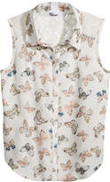 Epic Threads Butterfly-Print Shirt, Little Girls, Created for Macy's