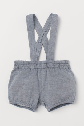 H&M Cotton Shorts with Suspenders
