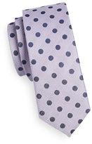 Sondergaard Polka Dot Silk-Linen Tie
