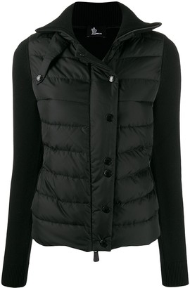 MONCLER GRENOBLE Maglione knitted sleeve puffer jacket