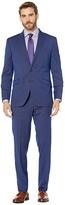 Kenneth Cole Reaction Slim Fit Stretch Performance Suit with 32 Finished Bottom Hem (Blue Stripe) Men's Suits Sets