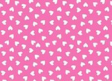 686 SheetWorld Fitted Basket Sheet - Primary Hearts White On Pink Woven - Made In USA - 13 inches x 27 inches (33 cm x cm)