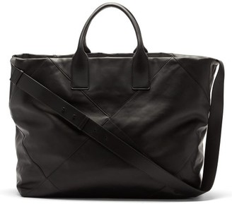 Bottega Veneta Intrecciato Panelled Leather Tote Bag - Black