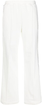 Area Crystal Embellish Stripe Track Trousers