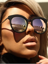 Quay x Chrisspy Jet Lag Sunglasses in Black/Rose Mirror