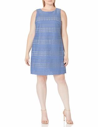 Eliza J Women's Plus Size Laser Cut Shift Dress