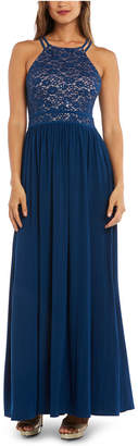 Night Way Nightway Lace-Top Gown