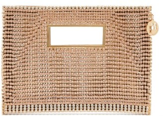 Rosantica Iside Crystal-embellished Envelope Clutch - Gold Multi