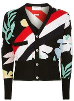 Thom Browne Cashmere Floral Cardigan