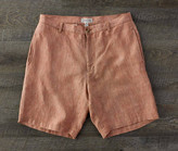 Madda Fella The Truman Washed Linen Shorts - Customs House Brick