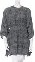 Apiece Apart Printed Silk Tunic