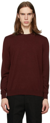 Cobra S.C. Burgundy Striped Crewneck Sweater