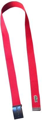 Lacoste Red Cloth Belts