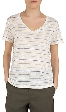 Gerard Darel Jahnaelle Striped V Neck Tee