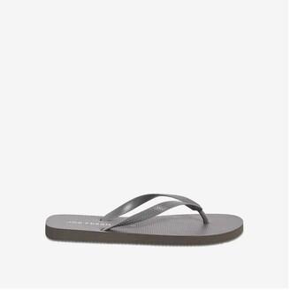 Joe Fresh Men's Flip Flops, Charcoal (Size 9)