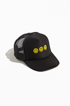 Urban Outfitters Triple Smiley Trucker Hat
