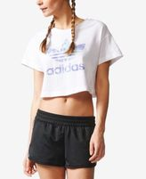 adidas Ocean Elements Cotton Cropped Logo T-Shirt