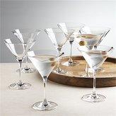 Crate & Barrel Set of 8 Viv Martini Glasses